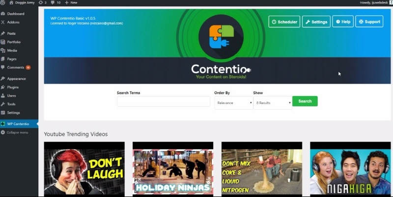 WP Contentio Download