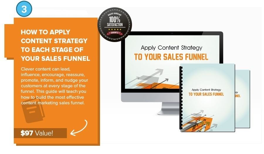 Bonus 3 Apply Content Strategy to Each Stage of your Sales Funnel
