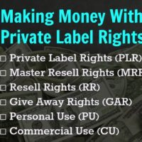 Making Money with Private Label Rights