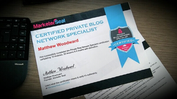 Private Blog Network Specialist Certification Course